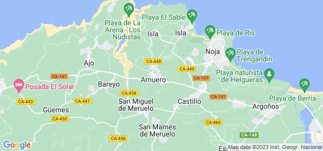 Mapa de Arnuero