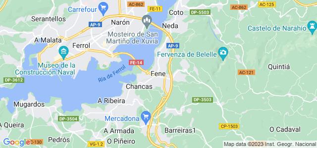 Mapa de Fene
