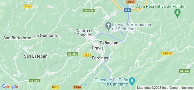 Mapa de Pravia
