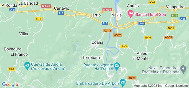 Mapa de Coaña