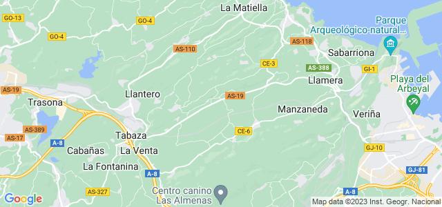 Mapa de Carreño