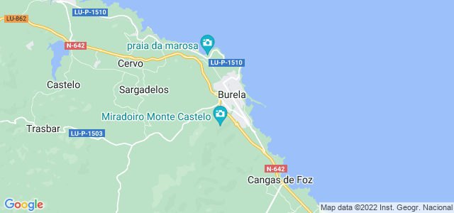 Mapa de Burela