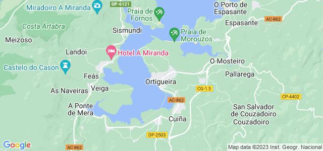 Mapa de Ortigueira