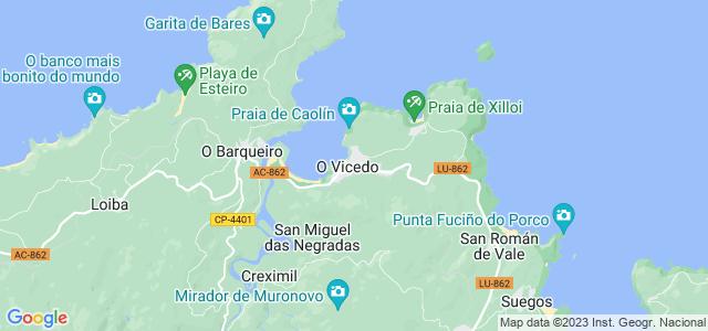Mapa de Vicedo